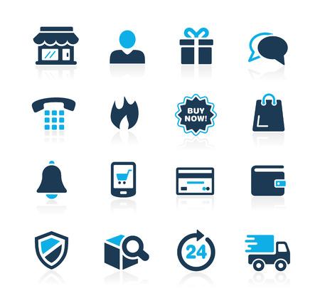 Ilustración de eShopping Icons  Azure Series - Imagen libre de derechos
