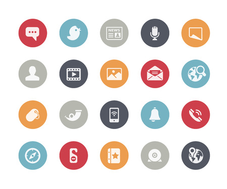 Illustration pour Social Media Icons  Classics Series - image libre de droit