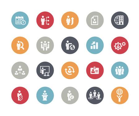 Illustration pour Icons Set of Human Resources and Business Management  Classics Series - image libre de droit