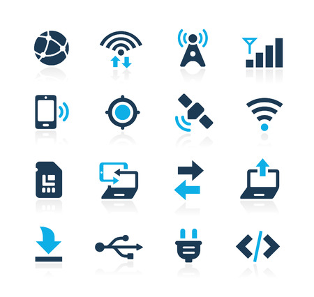 Photo pour Connectivity Icons  Azure Series - image libre de droit