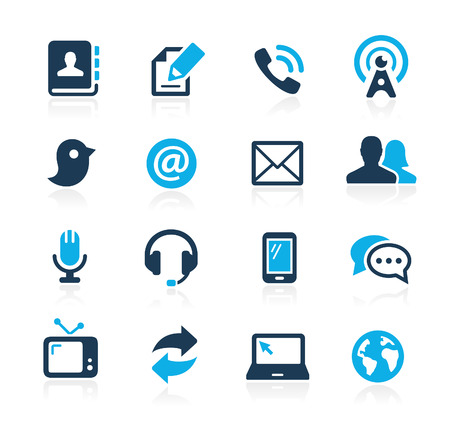Photo pour Communications Icons  Azure Series - image libre de droit