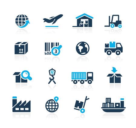 Illustration pour Industry and Logistics  Azure Series - image libre de droit