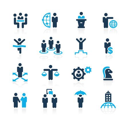 Illustration pour Planing Success and Business Strategies  Azure Series - image libre de droit