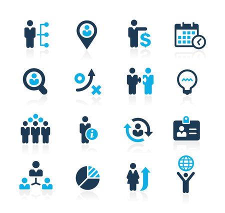 Illustration pour Efficiency and Business Strategies  Azure Series - image libre de droit