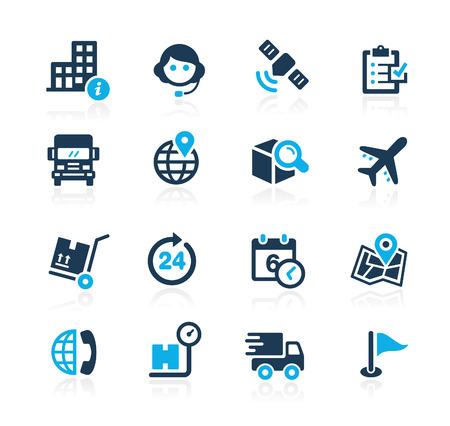 Ilustración de Shipping and Tracking  Azure Series - Imagen libre de derechos
