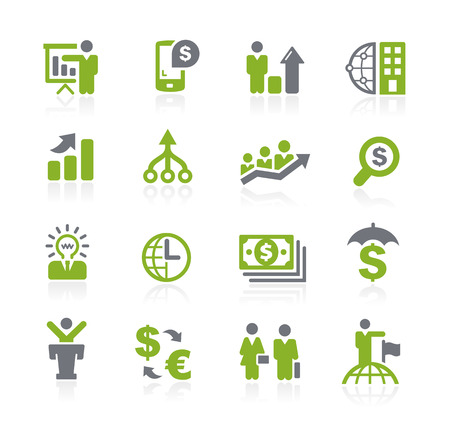 Illustration pour Business and Finance Icons -- Natura Series - image libre de droit