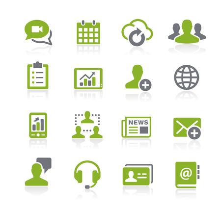 Ilustración de Business Network Icons -- Natura Series - Imagen libre de derechos