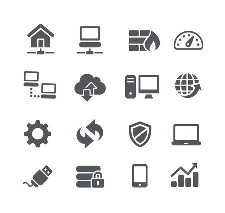 Illustration pour Network Icons -- Utility Series - image libre de droit