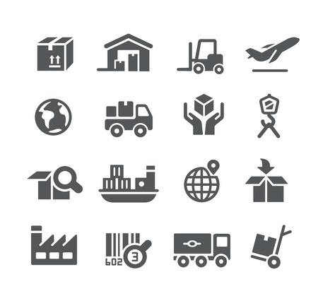 Illustration for Industry and Logistics icons -- Utility Series - Royalty Free Image