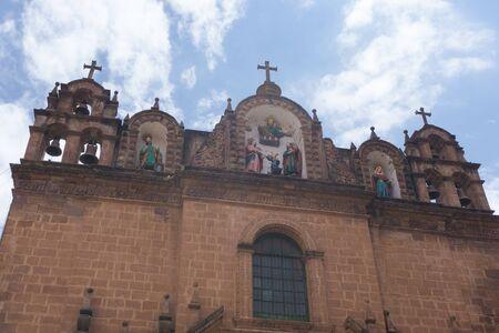 Foto de Church of the Sagrada Familia part of the Cusco Cathedral located on the main square of Cusco in Peru - Imagen libre de derechos