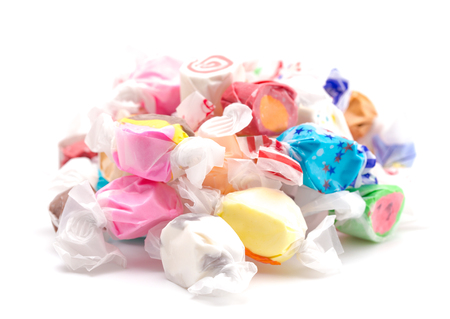 Photo for Thirty Different Flavors of Salt Water Taffy in a Pile - Royalty Free Image