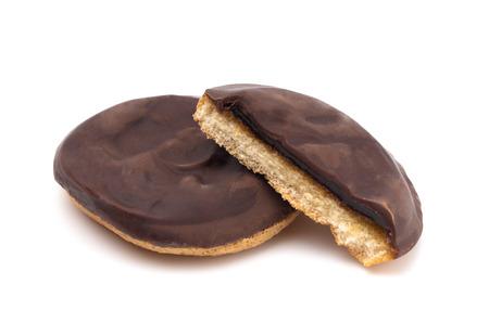 Foto de Orange Jam Filled Chocolate Covered Cookies - Imagen libre de derechos