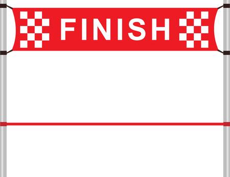 Ilustración de Red ribbon in finishing line - Imagen libre de derechos