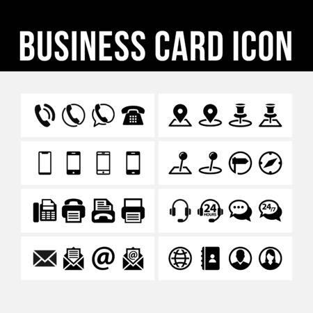 Illustration pour Business card icon contact symbol vector image - image libre de droit