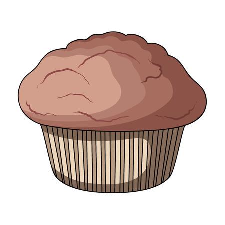 Ilustración de Cake, single icon in cartoon style.Cake, vector symbol stock illustration web. - Imagen libre de derechos