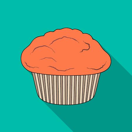 Ilustración de Cake, single icon in flat style.Cake, vector symbol stock illustration . - Imagen libre de derechos