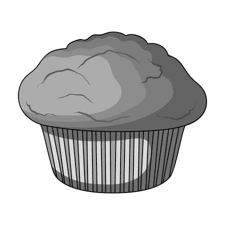 Ilustración de Cake, single icon in monochrome style.Cake, vector symbol stock illustration web. - Imagen libre de derechos