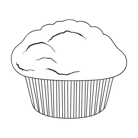Ilustración de Cake, single icon in outline style.Cake, vector symbol stock illustration web. - Imagen libre de derechos