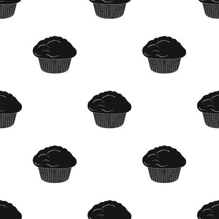 Ilustración de Cake, single icon in black style.Cake, vector symbol stock illustration web. - Imagen libre de derechos