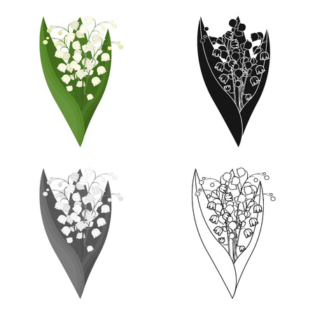 Illustration for A bouquet of fresh flowers single icon in cartoon,black,monochrome,outline style for design. Bouquet vector symbol stock illustration . - Royalty Free Image