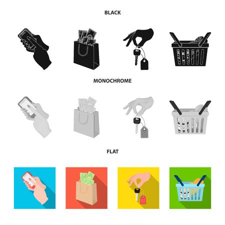 Illustration pour Shopping icons in set collection - image libre de droit