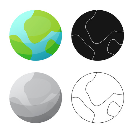 Illustration pour Vector illustration of mars and space icon. Collection of mars and planet vector icon for stock. - image libre de droit