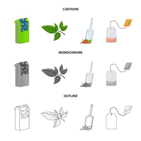 Ilustración de Isolated object of healthy and floral  logo. Set of healthy and gradient stock symbol for web. - Imagen libre de derechos