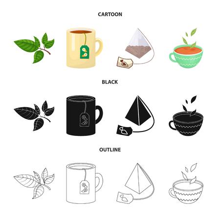 Ilustración de Vector design of healthy and floral  icon. Collection of healthy and gradient stock symbol for web. - Imagen libre de derechos