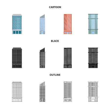 Illustration pour Vector design of municipal and center. Collection of municipal and estate   stock symbol for web. - image libre de droit