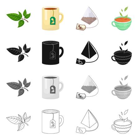 Ilustración de Vector design of healthy and floral  symbol. Set of healthy and gradient stock symbol for web. - Imagen libre de derechos