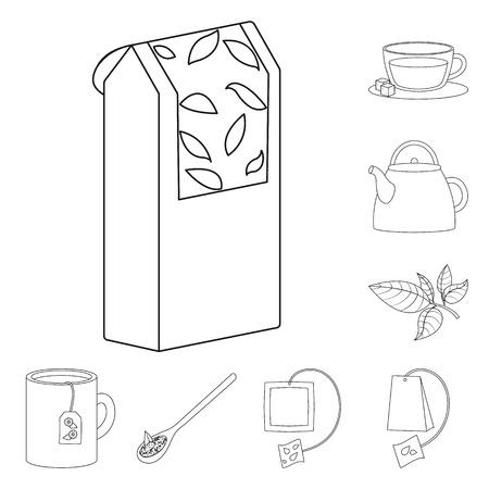 Ilustración de Isolated object of food and natural  symbol. Set of food and black  stock vector illustration. - Imagen libre de derechos