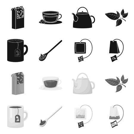 Ilustración de Vector illustration of healthy and floral  logo. Collection of healthy and gradient stock symbol for web. - Imagen libre de derechos