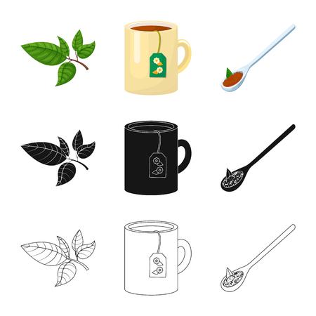 Ilustración de Vector illustration of healthy and floral  symbol. Set of healthy and gradient stock symbol for web. - Imagen libre de derechos