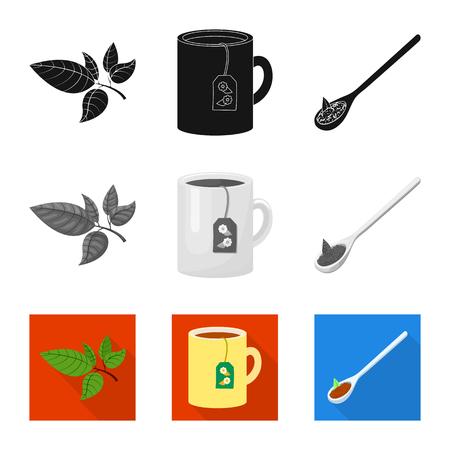 Ilustración de Vector illustration of healthy and floral  icon. Collection of healthy and gradient stock symbol for web. - Imagen libre de derechos