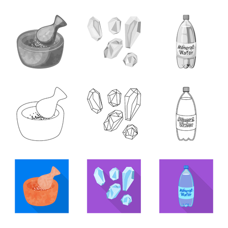 Illustration pour Vector design of cooking and sea icon. Collection of cooking and baking   vector icon for stock. - image libre de droit