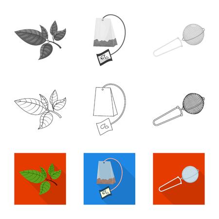 Ilustración de Vector illustration of healthy and floral  symbol. Set of healthy and gradient stock vector illustration. - Imagen libre de derechos