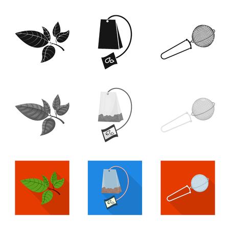 Ilustración de Isolated object of healthy and floral. Collection of healthy and gradient stock vector illustration. - Imagen libre de derechos