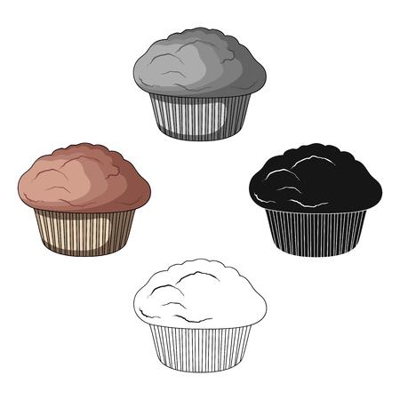 Ilustración de Cake, single icon in cartoon,black style.Cake, vector symbol stock illustration . - Imagen libre de derechos
