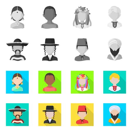 Illustrazione per Isolated object of imitator and resident symbol. Collection of imitator and culture vector icon for stock. - Immagini Royalty Free