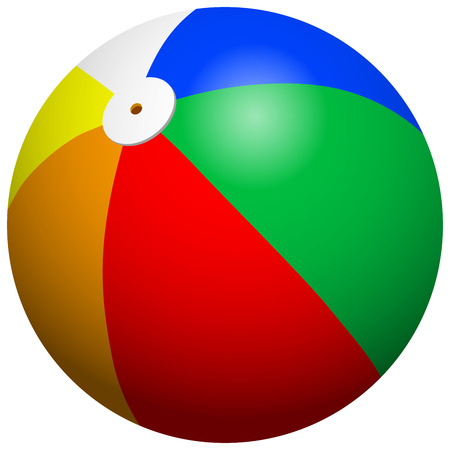 Illustration pour Beach Ball - image libre de droit