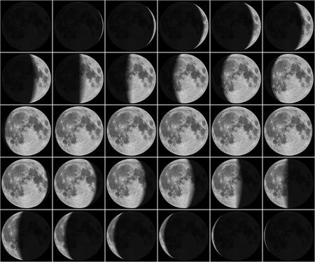 Foto de Moon 30 day phases - Imagen libre de derechos