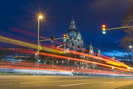 Photo pour Hanover City Hall at evening. Lower Saxony. - image libre de droit