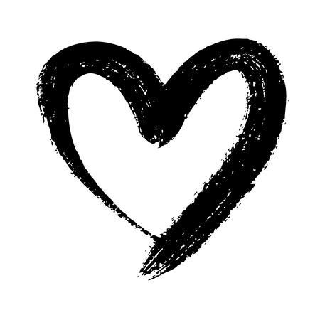 Illustration pour doodle hand drawn heart shaped on white background - image libre de droit
