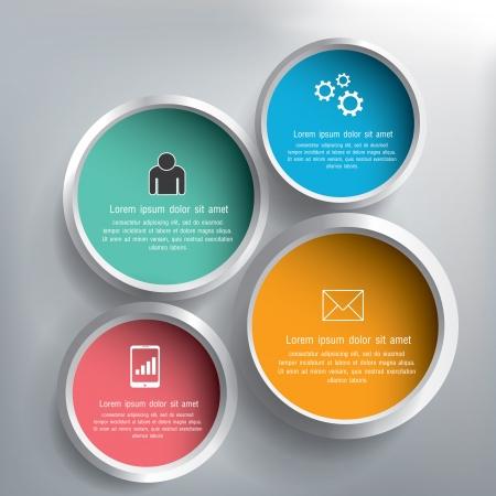 Illustration pour Abstract 3D circle infographics design - image libre de droit