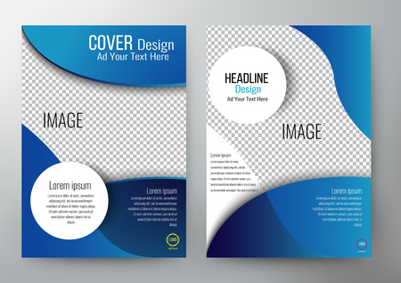 Illustration pour cover design template brochure, leaflet, annual report, magazine cover , book,  poster, printing and website. illustration layout in A4 size. - image libre de droit