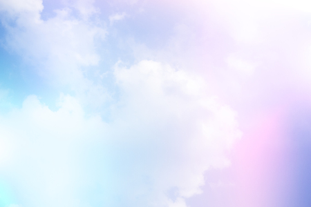 Photo for gradient soft cloud background with a pastel pink to blue  color - Royalty Free Image