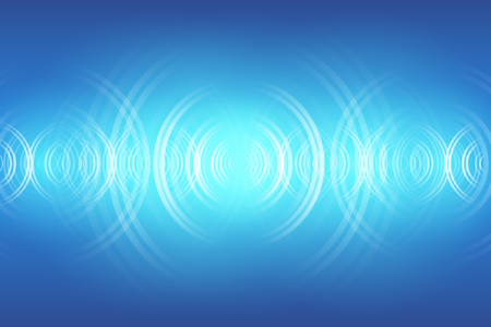 Ilustración de abstract digital sound wave background - Imagen libre de derechos
