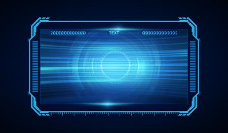 Ilustración de abstract hud ui gui future futuristic screen system virtual design - Imagen libre de derechos
