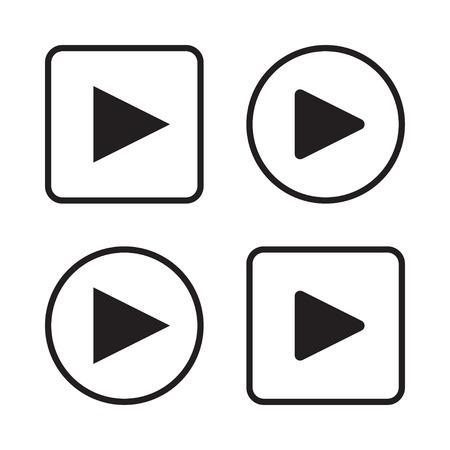 Illustration pour Set of play button icons vector illustration eps 10 - image libre de droit