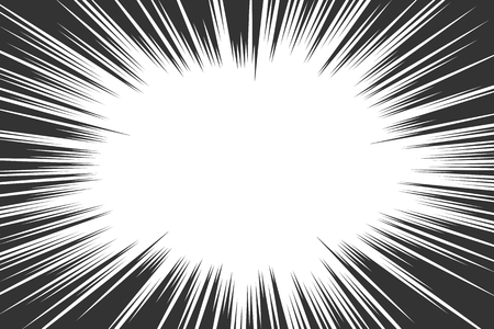 Ilustración de Comic book radial lines background. Manga speed frame. Explosion vector illustration. Star burst or sun rays abstract backdrop - Imagen libre de derechos
